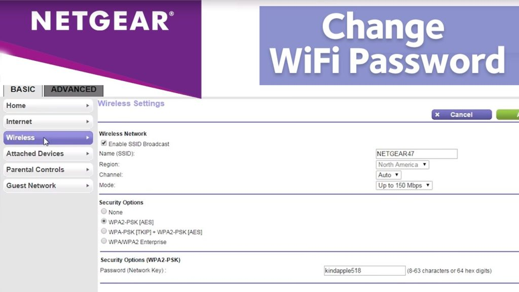 Change Netgear Routerlogin.net Password or Network name