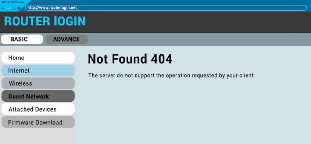 routerlogin.net Error 404
